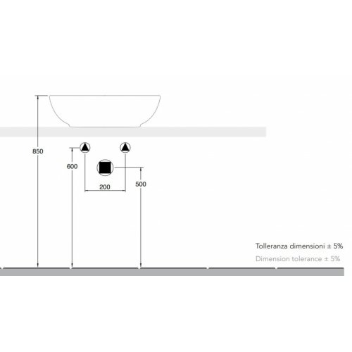 Vasque à poser MOAI 55R Vasque MOAI 55R Installation