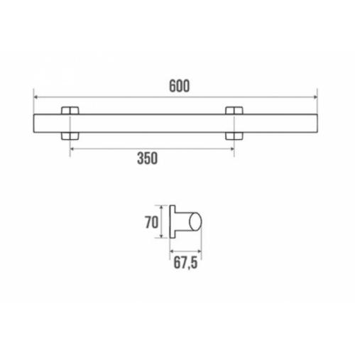 Barre d'appui multifonctions ARSIS pour WC Anthracite 048420 Schéma