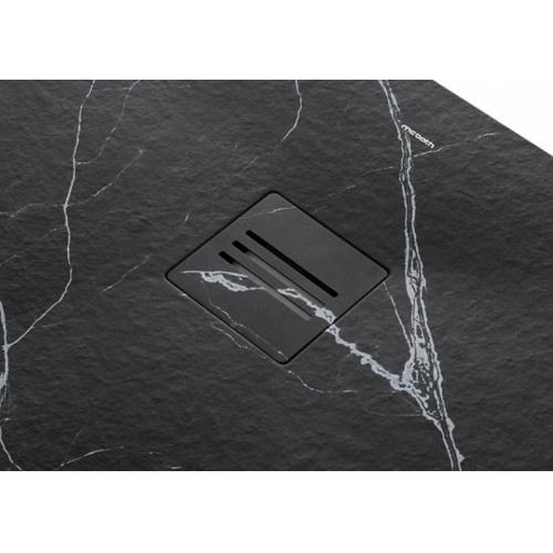 Receveur de douche MIRAGE Marbre Noir - 70x100 cm mirage-marquina-det