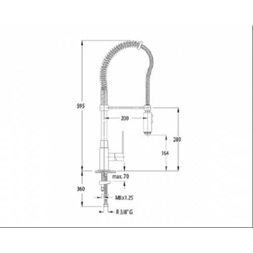 Mitigeur évier avec douchette Kuatro Plus 4966 4966-c