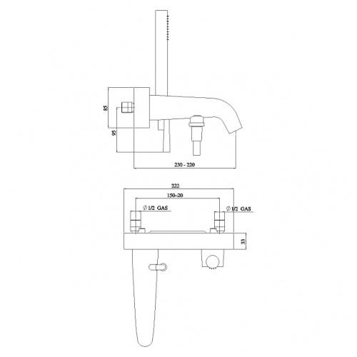 Mitigeur bain-douche chromé LIKID LK00110 COTE