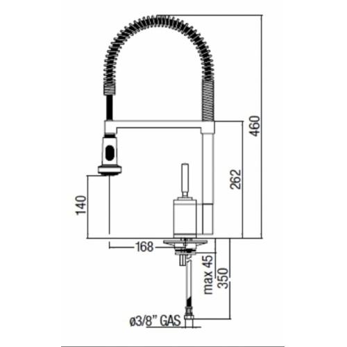 Mitigeur évier avec douchette chromé BILLY OZ45300/3 COTE