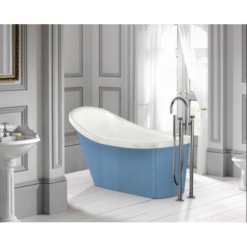 baignoire ilot ovale cabriolet bleu clair 155cm jacuzzi