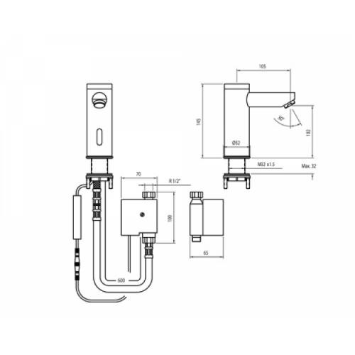 Robinet lavabo électronique Soltronic 8102 8102 c