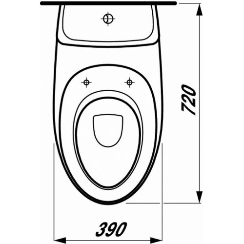 Pack WC à poser et abattant Alessi Laufen Tdt1 822976 d global tf techdrawing
