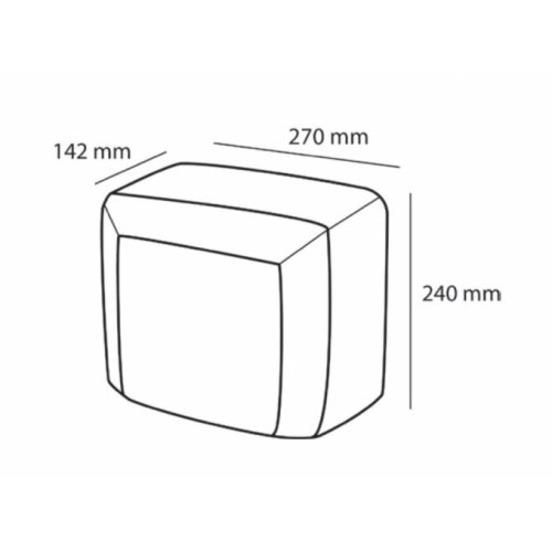 Sèche-mains CASSELIN - C1INOX Sèche mains c1 cote