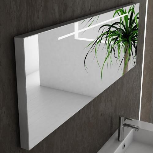 Meuble double-vasque VOGUE/LOFT 140 Boréale Blanc Brillant Zoom loft 140 argile satiné miroir fluo