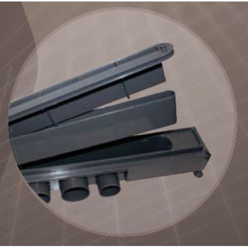 Caniveau de sol à carreler Venisio pour douche à l'italienne 700 mm - 30720839* Caniveau venisio 2