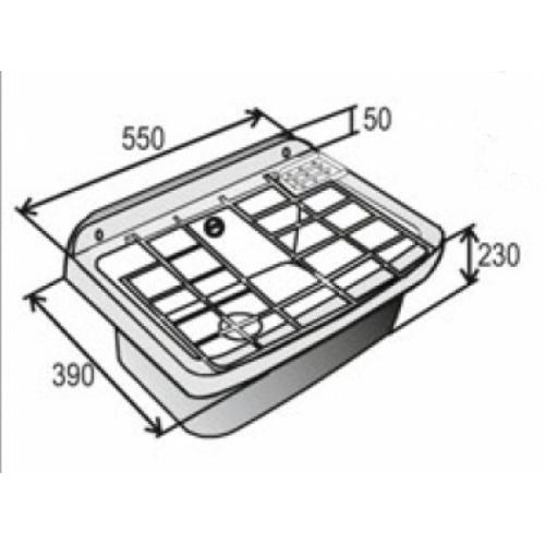 Bac à laver synthétique avec grille PE Poste deau det 06 cote