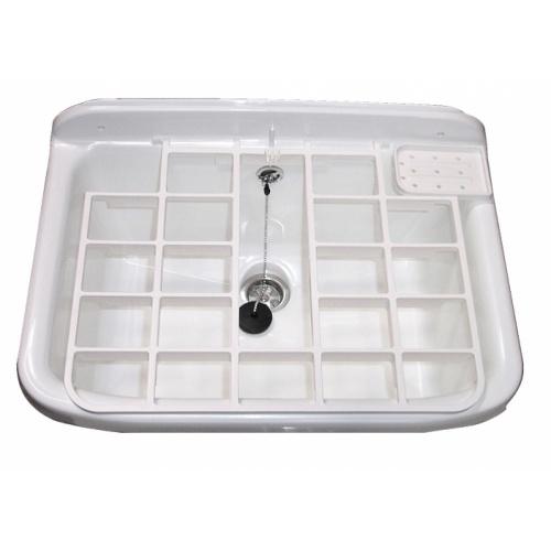 Bac à laver synthétique avec grille PE Poste deau dessus det 06