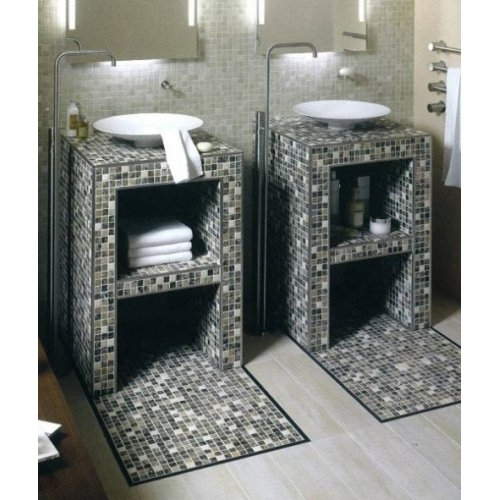 Plan de toilette individuelle à carreler JACKOBOARD Modula D800 Meuble jackon 2 redim600