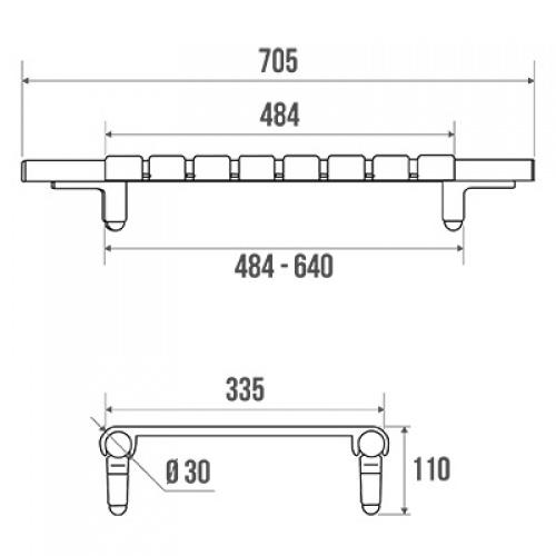 Planche de bain réglable - Pellet 047610 047610 schéma