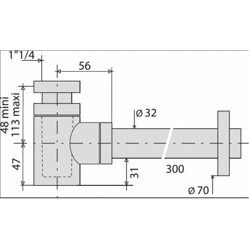 Siphon Design laiton Cylindrix VALENTIN - 142500* 142500 cote