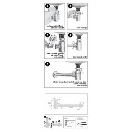 Siphon Design laiton Cylindrix VALENTIN - 142500* 00 1425 notice