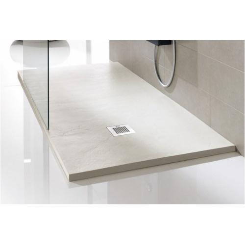 Receveur de douche souple SOFT Noir 80x80 cm Plato poliuretanano crema soft baños10 [1600x1200