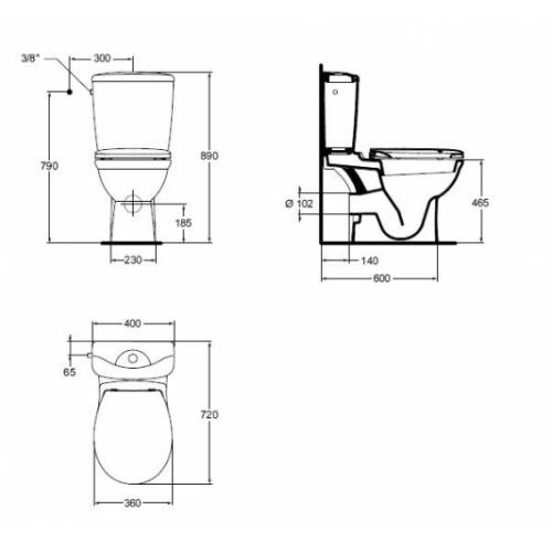 pack wc sur lev sortie horizontale kheops ideal standard. Black Bedroom Furniture Sets. Home Design Ideas