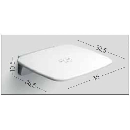 Siège de douche rétractable Blanc GEDY - 608302 Cote siège gedy