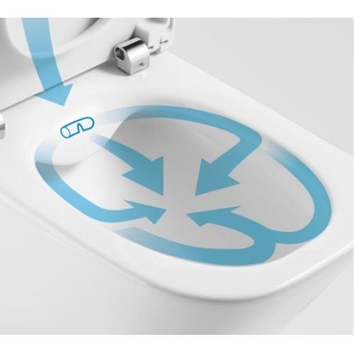 Pack WC sortie Duale CleanRim The Gap Compact Roca Cleanrim detail2