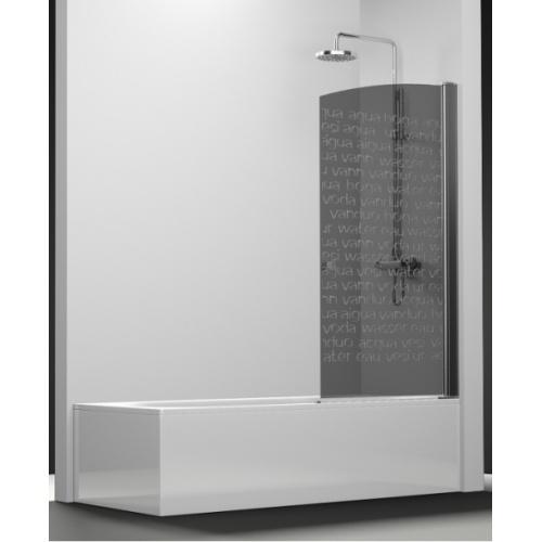 Pare-Bain Arcoiris pivotant verre fumé sablé Aqua 80x150 Droit