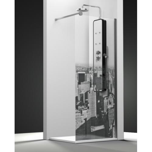 Paroi de douche fixe ONE impression Manhattan 30cm droite