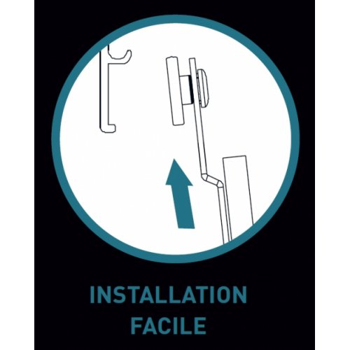 Paroi fixe + coulissant VITA VA-250 100 cm Droite Installation facile