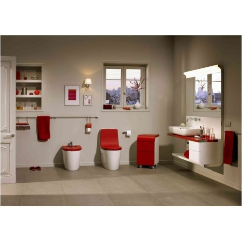 Pack WC sortie duale KHROMA Passion Red Ambiance rouge 3