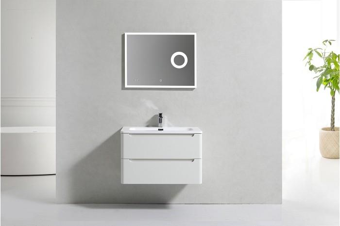 Meuble simple vasque 80cm toola blanc ivoire sans miroir ebay - Meuble patine blanc ivoire ...