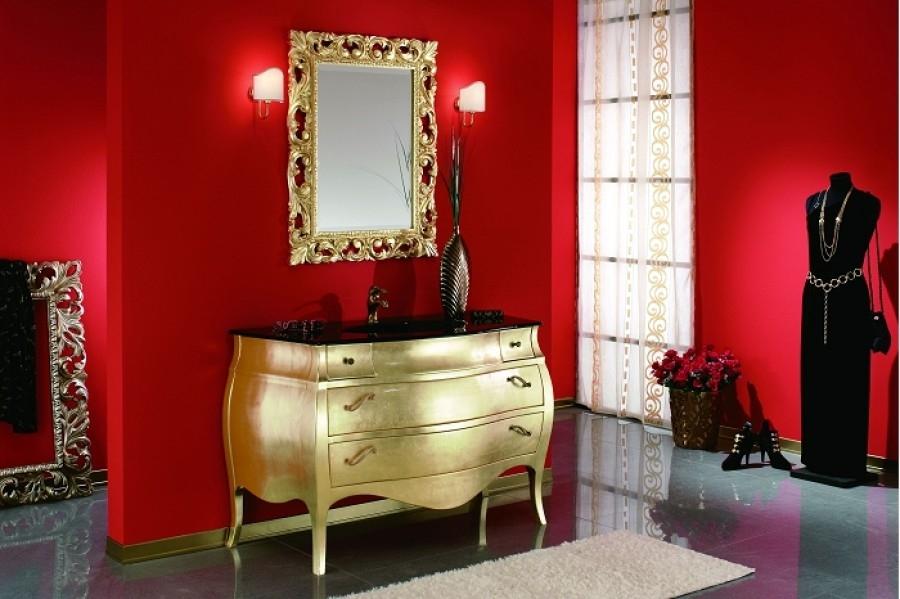 Meuble de salle de bain New Baroque composition 3 - Feuille Or