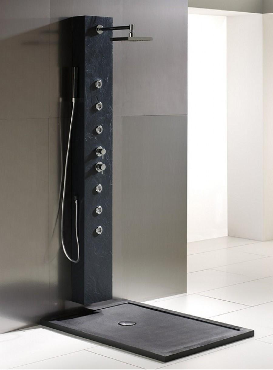 Colonne de douche hydromassante amazone noire - Colonne de douche noire ...