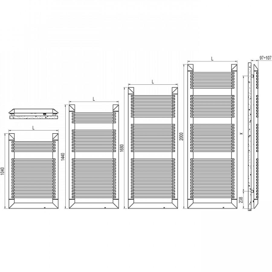 radiateur s che serviettes lectrique evo irsap 300 meuble de salle de bain. Black Bedroom Furniture Sets. Home Design Ideas