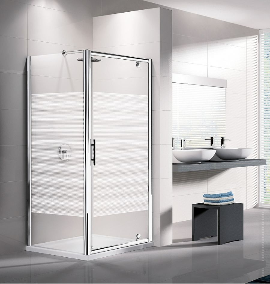 Porte de douche pivotante lunes g 70cm s rigraphi meubl - Paroi douche serigraphie ...