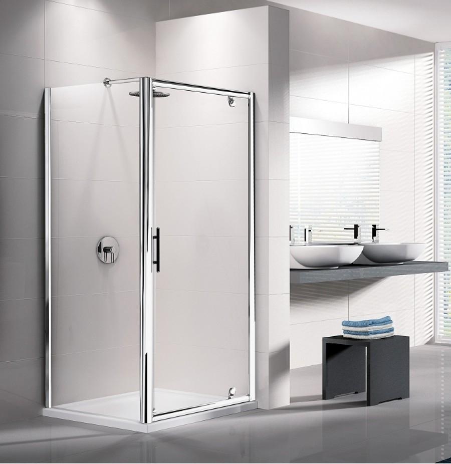 Porte de douche pivotante lunes g 60cm transparent meuble de salle de bain - Porte de douche 60 cm ...