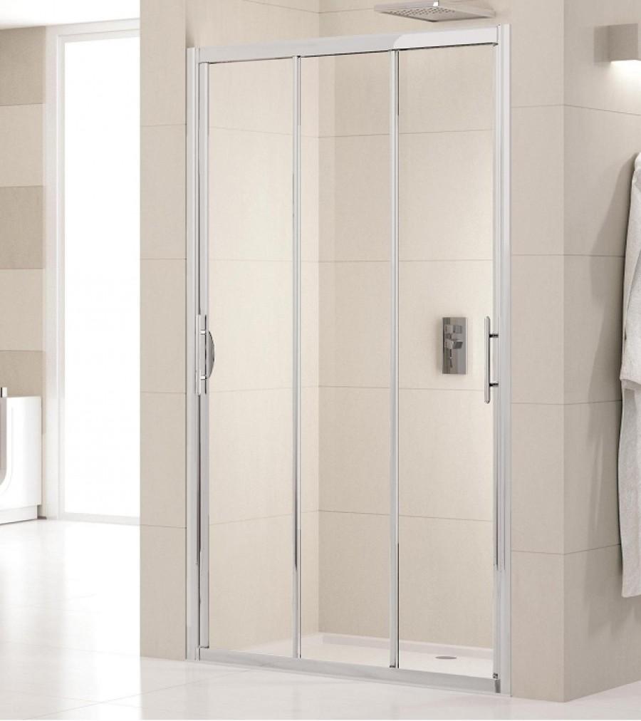 Porte de douche 3 panneaux coulissants lunes p 70cm for Porte 3 panneaux