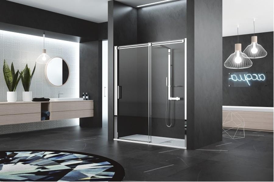 Porte coulissante diamanti 2p 140 cm meuble de salle de bain douche baignoire - Porte coulissante 140 cm ...
