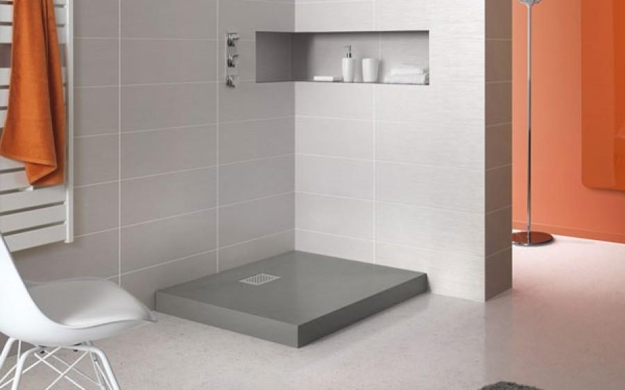 receveur de douche carr 90x90 kinecompact gris. Black Bedroom Furniture Sets. Home Design Ideas