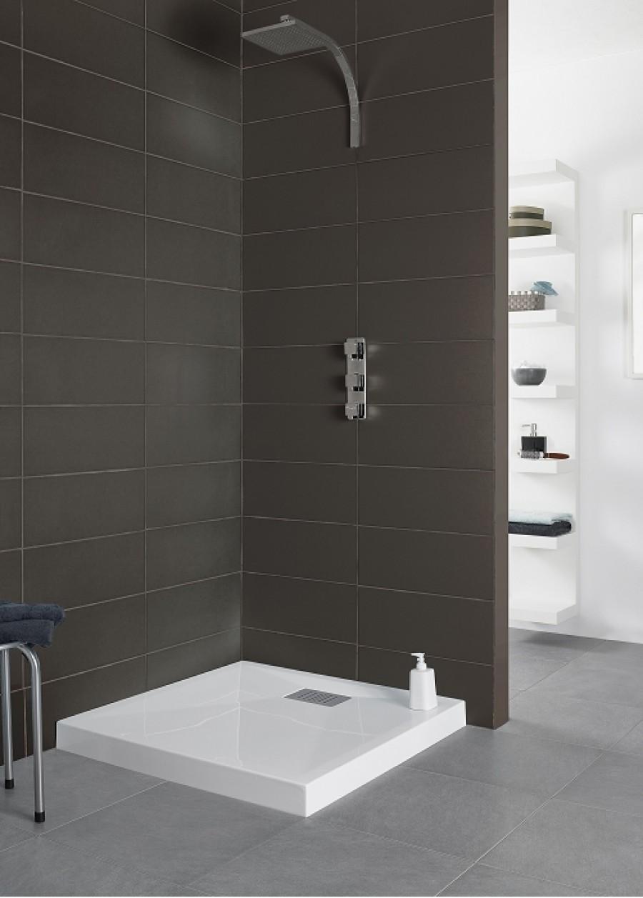 receveur de douche carr 100x100 kinecompact blanc. Black Bedroom Furniture Sets. Home Design Ideas