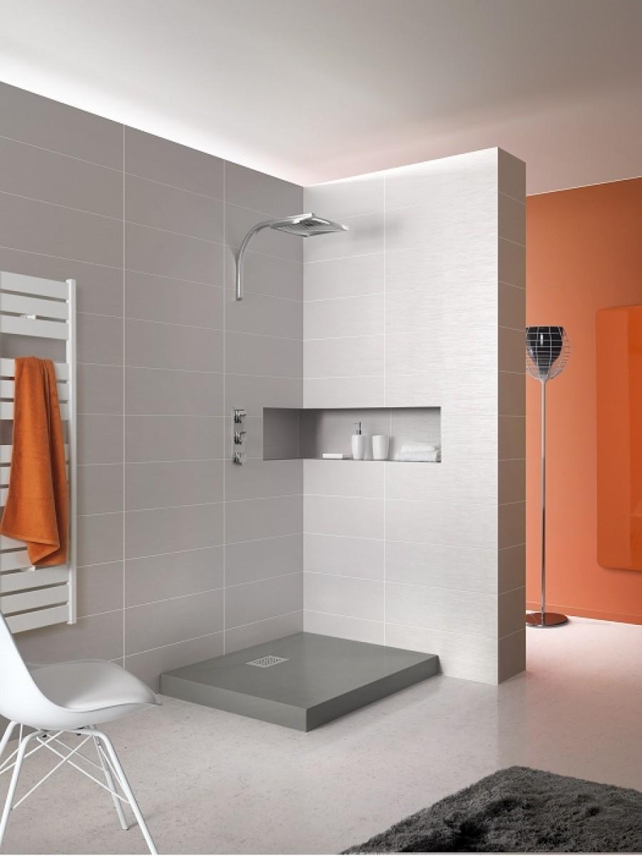 receveur de douche rectangle 70x90 en biocryl kinecompact gris. Black Bedroom Furniture Sets. Home Design Ideas
