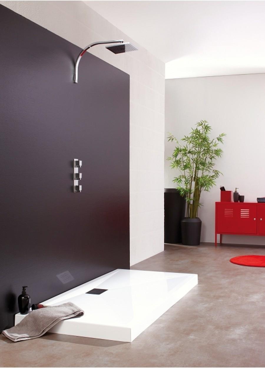 receveur de douche rectangle 90x120 en biocryl kinecompact. Black Bedroom Furniture Sets. Home Design Ideas