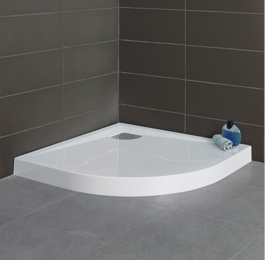 receveur 1 4 rond 90x90 kinesurf meuble de salle de bain douche baignoire. Black Bedroom Furniture Sets. Home Design Ideas