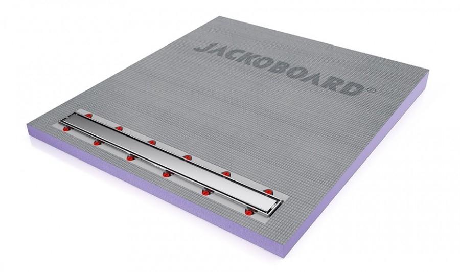 Receveur carreler coulement lin aire 140x90 verticale jackoboard aqua line - Bac de douche a carreler ...