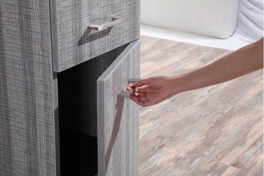 Colonne de salle de bain jupiter 135cm bois gris sci for Colonne de salle de bain rose