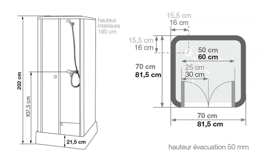 cabine de douche pour petits espaces 70x70 delta meuble de salle de bain douche. Black Bedroom Furniture Sets. Home Design Ideas