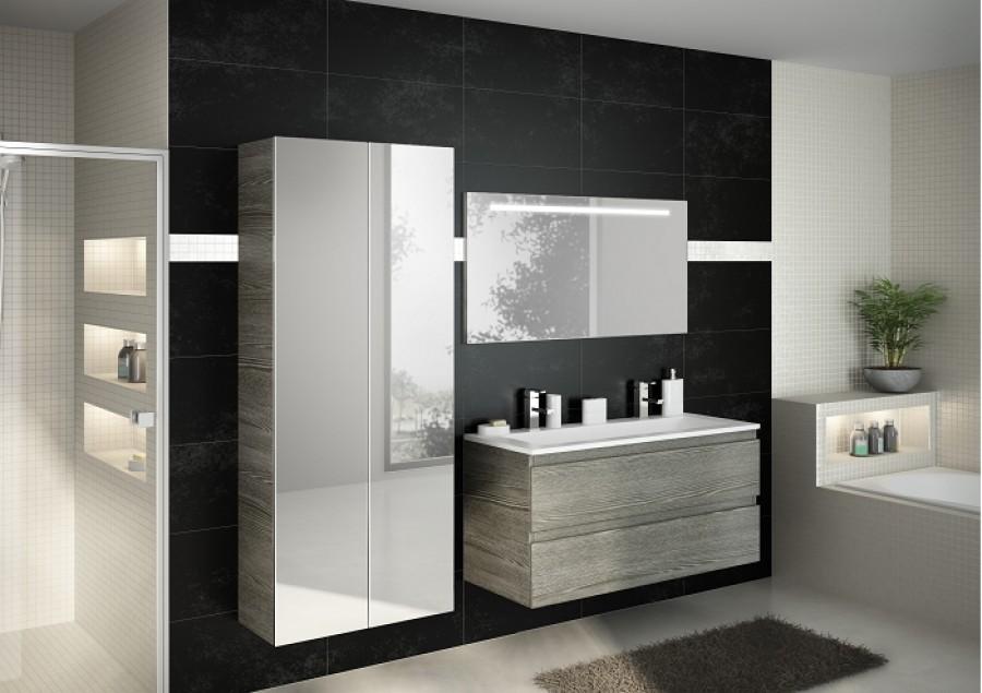Meuble simple vasque 120 cm rivage sci e for Miroir 80x150