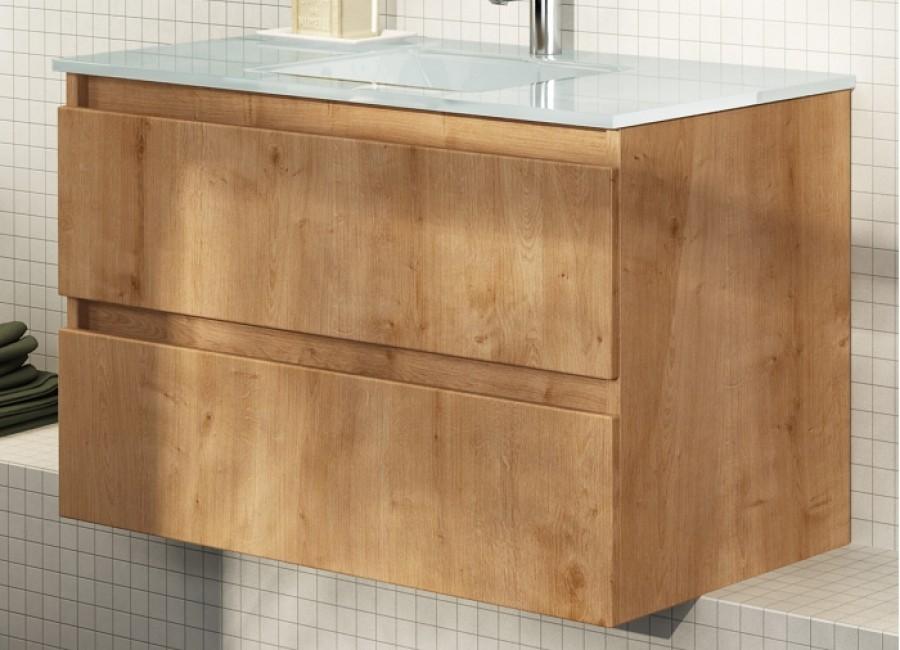 meuble simple vasque 90 cm rivage cottage meuble de salle de bain douche. Black Bedroom Furniture Sets. Home Design Ideas