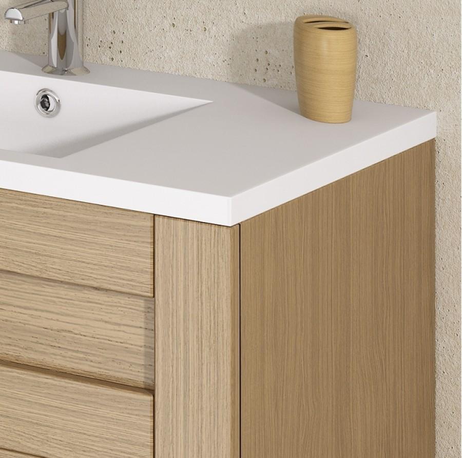 Meuble simple vasque cosy 70 cm baltique naturelsanitaire for Meuble sous vasque 70 cm