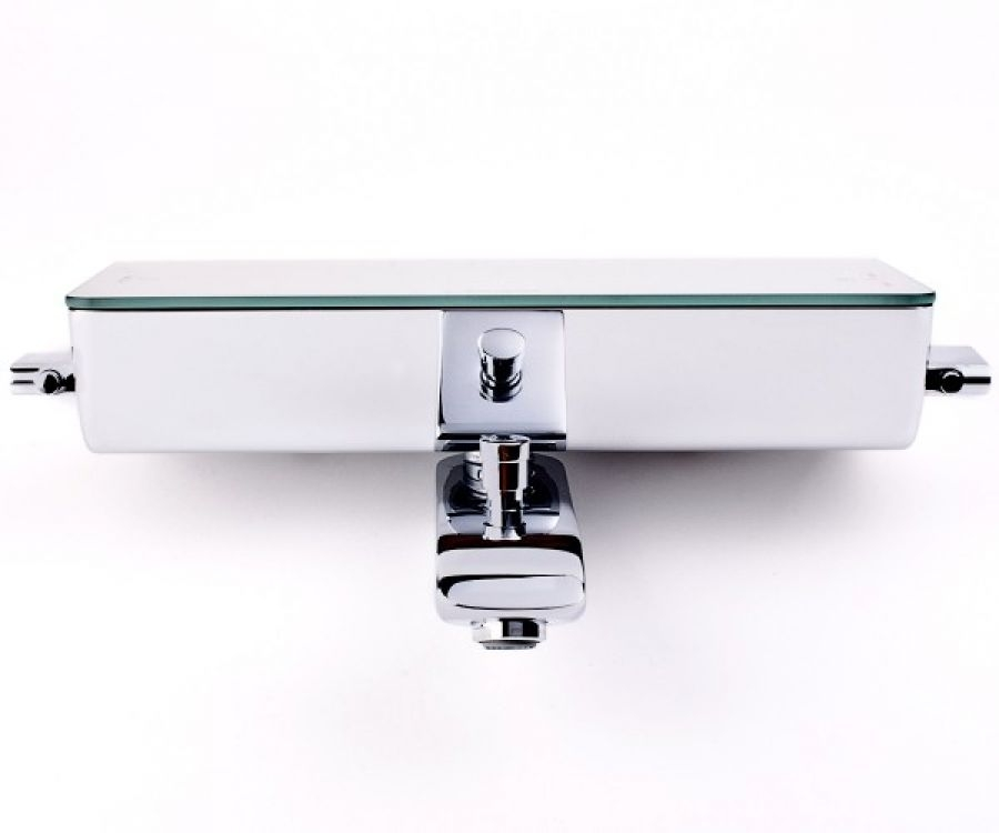 mitigeur bain douche thermostatique blanc ecostat select meuble de salle. Black Bedroom Furniture Sets. Home Design Ideas