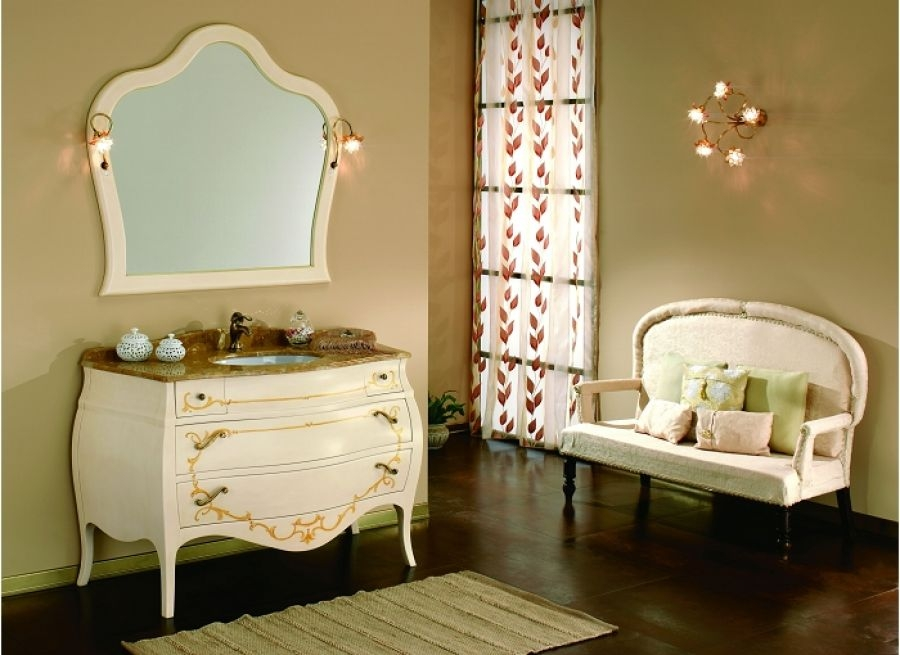 meuble de salle de bain new baroque composition 5 cr me avec d coration. Black Bedroom Furniture Sets. Home Design Ideas