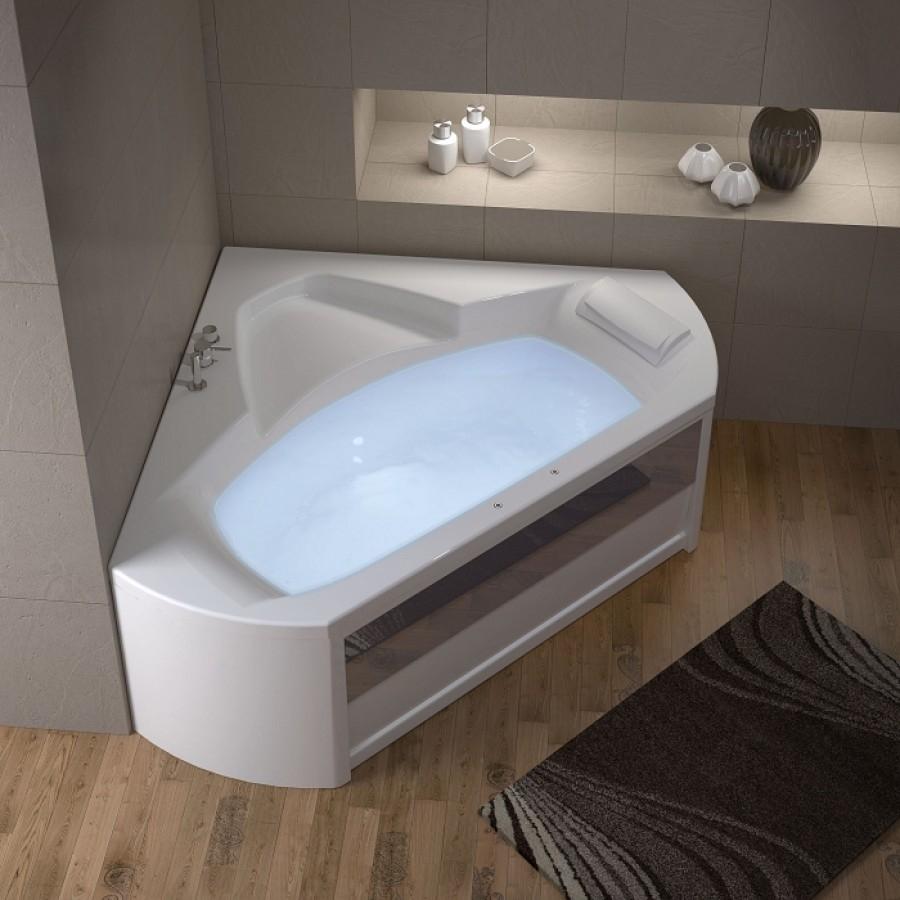 baignoire baln o d 39 angle 140x140 pl nitude t te meuble de salle de bain. Black Bedroom Furniture Sets. Home Design Ideas