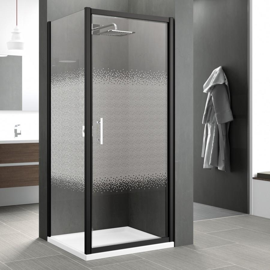 porte pivotante zephyros g 100cm verre s rigraphi profil s meuble de salle. Black Bedroom Furniture Sets. Home Design Ideas