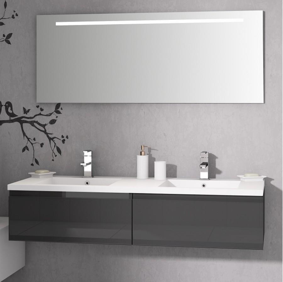 meuble double vasque vogue 140 bor ale meuble de salle de bain douche baignoire. Black Bedroom Furniture Sets. Home Design Ideas